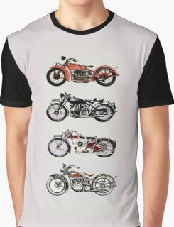 VINTAGE MOTORCYCLES Graphic T-Shirt