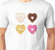 Heart Shaped Donuts Unisex T-Shirt