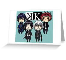 K project chibi Greeting Card