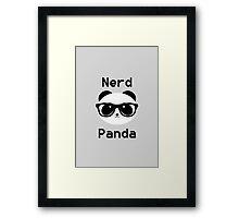 Nerd Panda Framed Print