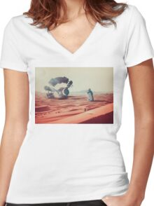 I'm Coming Home Women's Fitted V-Neck T-Shirt