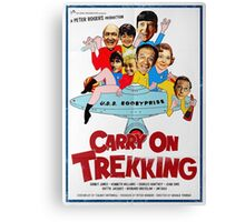 Carry on Trekking Vintage poster Canvas Print