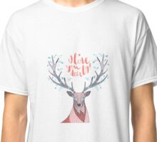 hand drawn deer with text I Love You Deerly Classic T-Shirt