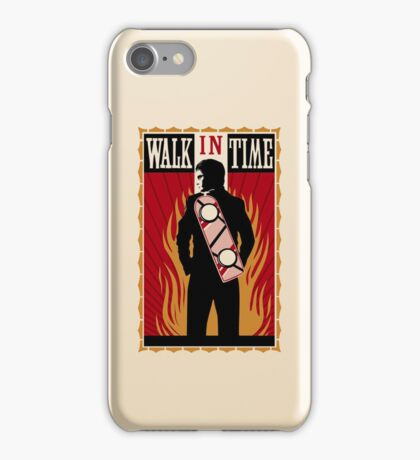 Walk in Time (Back to the Future) iPhone Case/Skin