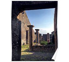 Pompeii columns Poster