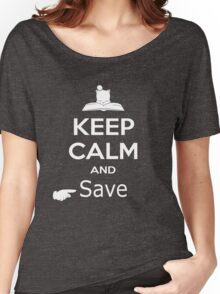 Keep Calm and Save (Final Fantasy) Women's Relaxed Fit T-Shirt