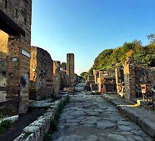 Pompeii Street by Ginette Jalbert