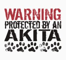Warning Protected By An Akita Baby Tee