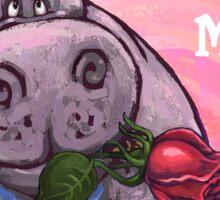 Hippopotamus Valentine's Day Sticker