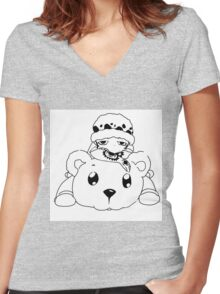 Traffy and Bepo Women's Fitted V-Neck T-Shirt