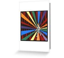 Backgammon Rainbow Boy Greeting Card
