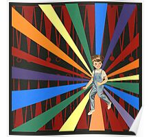 Backgammon Rainbow Boy Poster