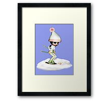 Skiing On The Snow Framed Print