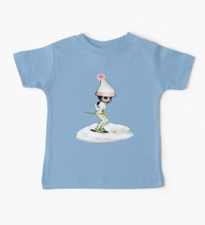 Skiing On The Snow Baby Tee