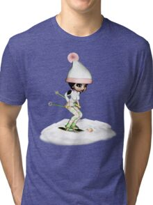 Skiing On The Snow Tri-blend T-Shirt