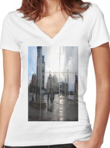 reflection Women's Fitted V-Neck T-Shirt