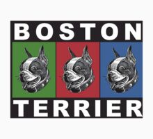 Pug Boston Terrier  One Piece - Short Sleeve