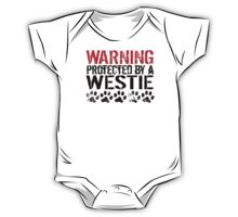 Warning Protected By A Westie One Piece - Short Sleeve