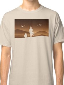 Rey and BB-8 Silhouette Art Classic T-Shirt