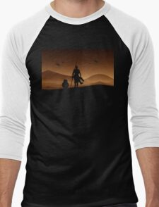 Rey and BB-8 Silhouette Art Men's Baseball ¾ T-Shirt