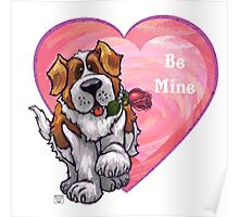 St. Bernard Valentine's Day Poster
