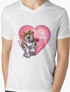 St. Bernard Valentine's Day Mens V-Neck T-Shirt