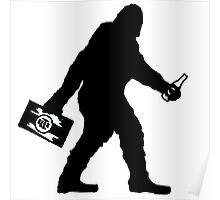SASQUATCH BIGFOOT With A Case Of BEER  Poster