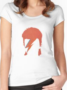 David Bowie / Ziggy Stardust Women's Fitted Scoop T-Shirt