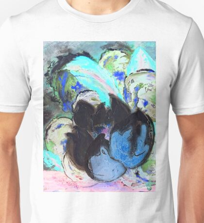 Purple Peonies in Shadow World Unisex T-Shirt