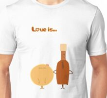 Love is... pancake and maple syrup Unisex T-Shirt
