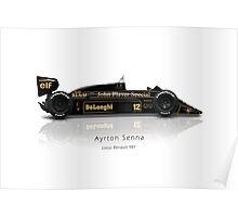 Ayrton Senna - Lotus 98T Poster