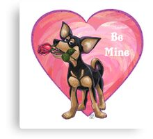 Chihuahua Valentine's Day Canvas Print