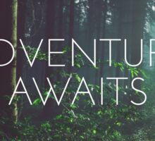 Adventure awaits, Motivation quote Sticker