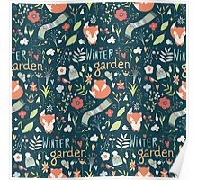 Winter garden pattern 001 Poster