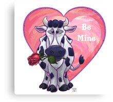 Cow Valentine's Day Canvas Print