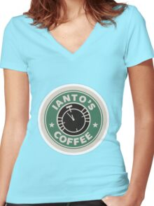 Torchwood Ianto's Coffee Women's Fitted V-Neck T-Shirt