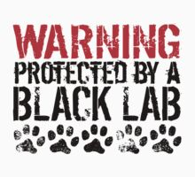 Warning Protected By A Black Lab One Piece - Short Sleeve