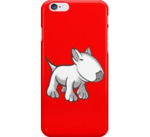 Cute English Bull Terrier Cartoon White iPhone Case/Skin