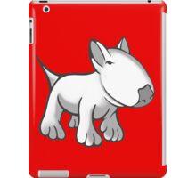 Cute English Bull Terrier Cartoon White iPad Case/Skin