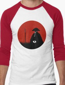 Meditating Warrior Men's Baseball ¾ T-Shirt