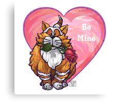 Ginger Cat Valentine's Day Canvas Print