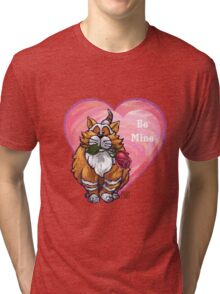 Ginger Cat Valentine's Day Tri-blend T-Shirt