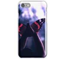 Metamorphosis, hands to butterflies iPhone Case/Skin