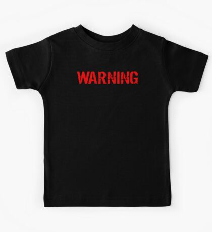 Warning Protected By A Yellow Lab Kids Tee