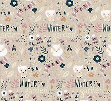 Winter garden pattern 004 by BlueLela