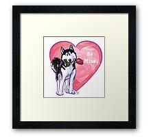 Husky Valentine's Day Framed Print