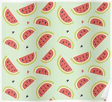 Watermelon Pattern Poster