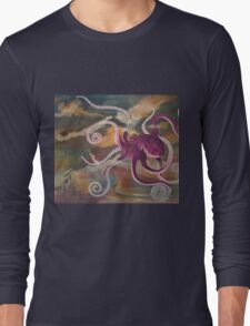 Octopus in the Deep Long Sleeve T-Shirt