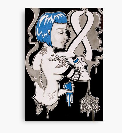 Under Your Spell, 2015 - Ink and Acrylic Painting Canvas Print
