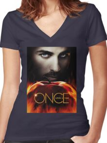 Captain Hook OUAT. Underworld. Women's Fitted V-Neck T-Shirt